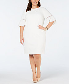 Jessica Howard Plus Size Bell Sleeve Shift Dress