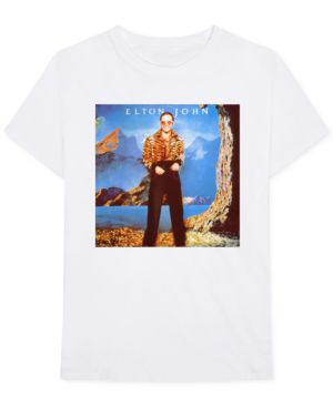 BRAVADO Elton John Caribou Men'S Graphic T-Shirt in White
