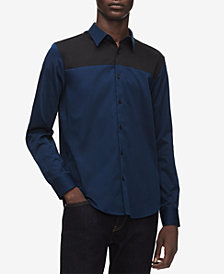 Calvin Klein Men's Colorblocked French Placket Shirt