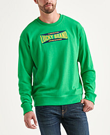 Totally Lucky Unisex Stretch Logo Crew Sweatshirt