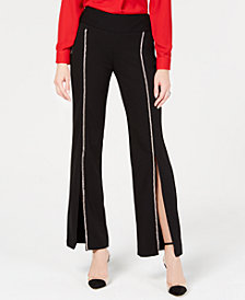 I.N.C. Petite Rhinestone Split-Leg Pants, Created for Macy's