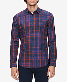 Calvin Klein Men's Plaid French Placket Shirt