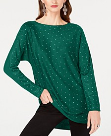 INC Embellished Shirttail Sweater, Created for Macy's