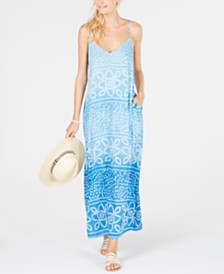 Raviya Tile-Printed Maxi Dress Cover-Up