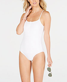 Roxy Juniors' Ribbed One-Piece Swimsuit