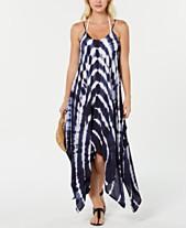 f534faa3e0584 Raviya Tie-Dye Handkerchief-Hem Dress Cover-Up
