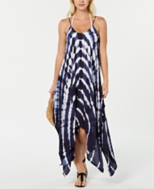 Raviya Tie-Dye Handkerchief-Hem Dress Cover-Up