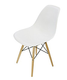 Lucas White Wood Grain Accent Chairs (Set of 4)
