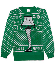 A Christmas Story Fragile Lamp Men's Sweater