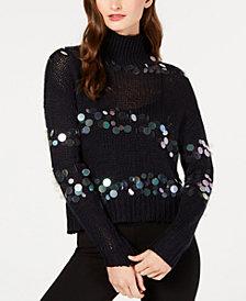 Rachel Zoe Briana Sequin Turtleneck Sweater