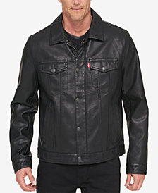 Levi's® Men's Faux-Leather Trucker Jacket