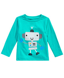 First Impressions Baby Boys Long-Sleeve Robot T-Shirt, Created for Macy's