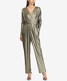 Lauren Ralph Lauren Metallic Surplice Jumpsuit