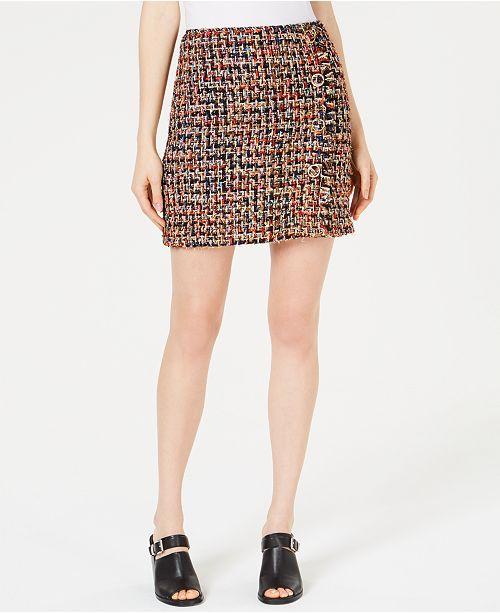 J.O.A. Embellished Tweed Skirt  J.O.A. Embellished Tweed Skirt ... 060eb861d2