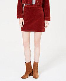 T.D.C. Topson Corduroy Wrap Skirt