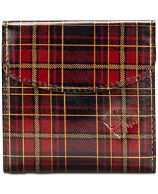 Patricia Nash Reiti Tartan Plaid Leather Trifold Wallet