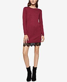 BCBGeneration Lace-Hem Sweater Dress