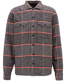 BOSS Men's Oversized-Fit Glen-Check Cotton Shirt