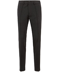 BOSS Men's Tapered-Fit Striped Trousers