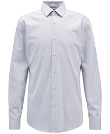 BOSS Men's Slim-Fit Cotton Twill Shirt