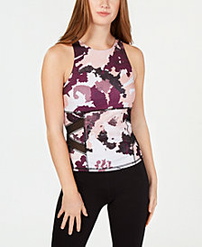 Material Girl Juniors' Mesh-Inset Tank Top, Created for Macy's