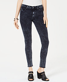 Hudson Jeans High-Waist Barbara Super-Skinny Raw-Hem Ankle Jeans
