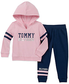 Tommy Hilfiger Toddler Girls 2-Pc. Fleece Hoodie & Jogger Pants Set