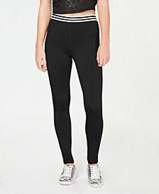 Material Girl Juniors' Varsity Stripe Leggings, Created for Macy's