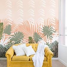 Marta Barragan Camarasa Jungle Tropical Plants Pastel I 8'x8' Wall Mural