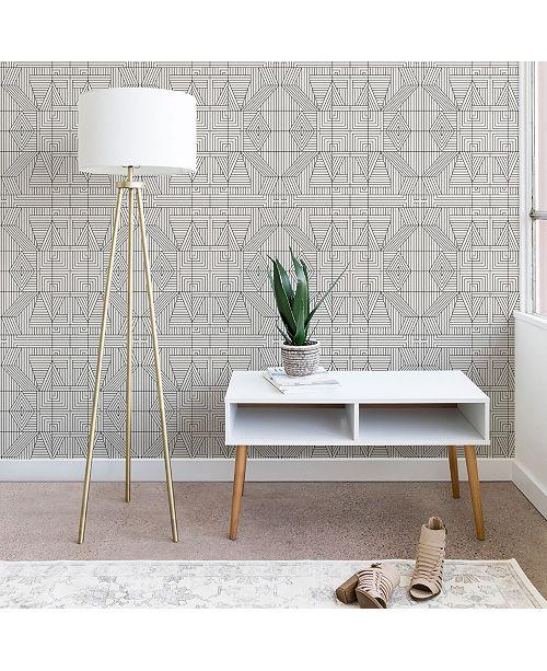 Deny Designs Holli Zollinger Line Mandala 2'x8' Wallpaper