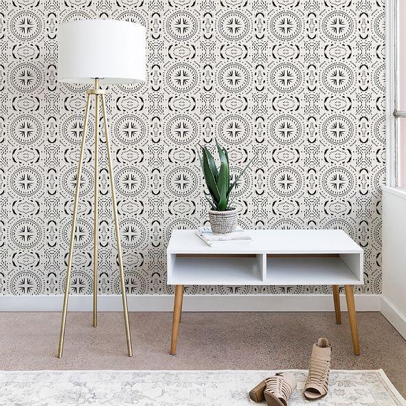 Deny Designs Holli Zollinger Mandala Tile Light 2'x8' Wallpaper