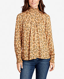 WILLIAM RAST Smocked Floral-Print Top