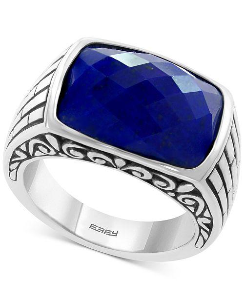 88f350dc6b5f9 EFFY® Men's Lapis Lazuli Ring in Sterling Silver