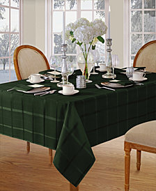 Elrene Elegance Plaid Holly Green Table Linen Collection