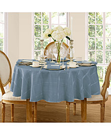 "Elrene Elegance Plaid Blue Shadow 90"" Round Tablecloth"