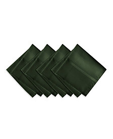 Elrene Elegance Plaid Holly Green Set of 4 Napkins