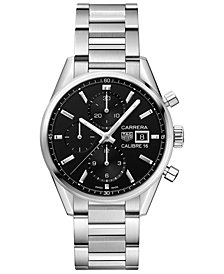 TAG Heuer Men's Swiss Automatic Chronograph Carrera Calibre 16 Stainless Steel Bracelet Watch 41mm