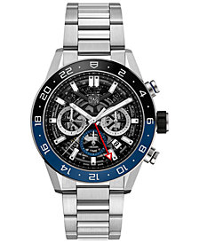 TAG Heuer Men's Swiss Automatic Chronograph Carrera Heuer 02 Stainless Steel Bracelet Watch 45mm