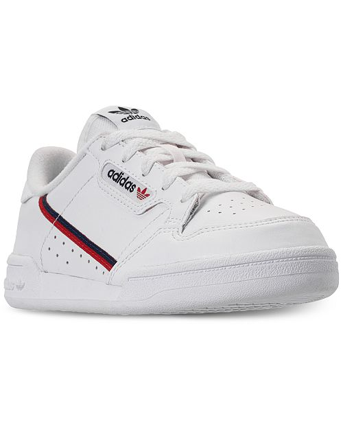 ... adidas Boys  Originals Continental 80 Casual Sneakers from Finish ... c123e5e9c