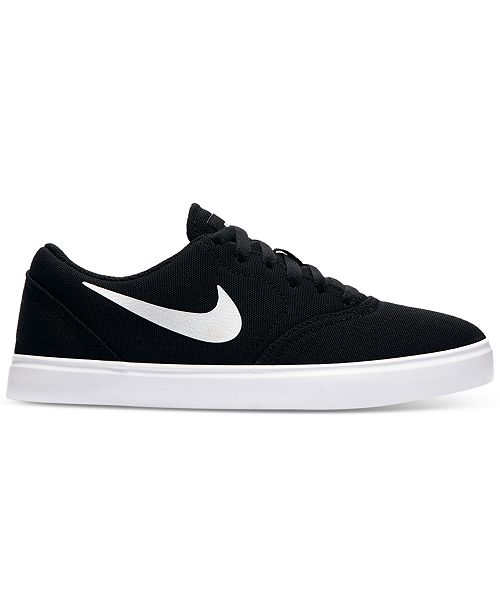size 40 dc5b7 f508f ... Nike Boys  SB Check Canvas Skateboarding Sneakers from Finish ...