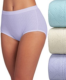 Elance Breathe Brief 3 Pack Underwear 1542, Extended Sizes