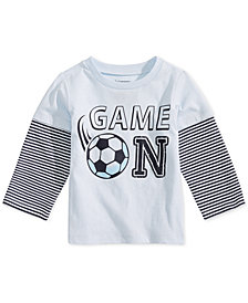 First Impressions Baby Boys Game On Graphic Cotton T-Shirt, Created for Macy's