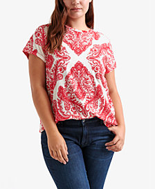 Lucky Brand Plus Size Allover-Print T-Shirt