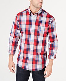 Tommy Hilfiger Men's Nate Classic-Fit Plaid Shirt, Created for Macy's