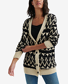 Lucky Brand Diamond Patterned Cardigan
