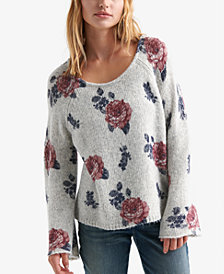 Lucky Brand Floral Print Sweater