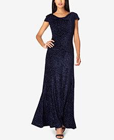 Tahari ASL Velvet Lace Gown