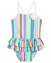 a2ed1f9ecceff First Impressions Baby Girls Striped Swimsuit, Created for Macy's