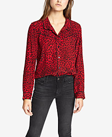 Sanctuary Joni West Leopard-Print Shirt