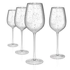 Atland Silver Rustica 17 oz. Goblet, Set of 4
